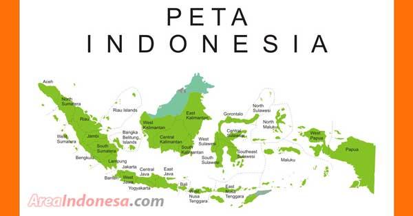 Daftar 34 Provinsi dan 7 pulau besar di Indonesia