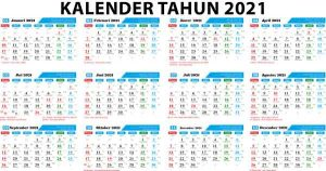 Kalender Tahun 2021