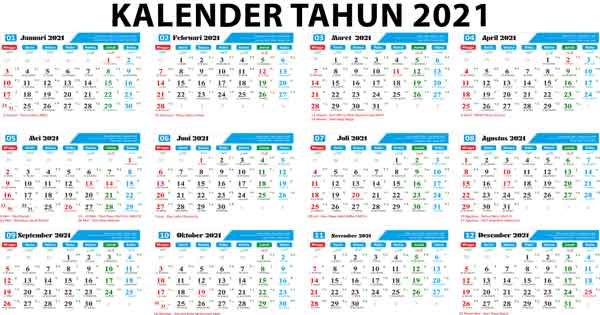 Download Kalender Tahun 2021