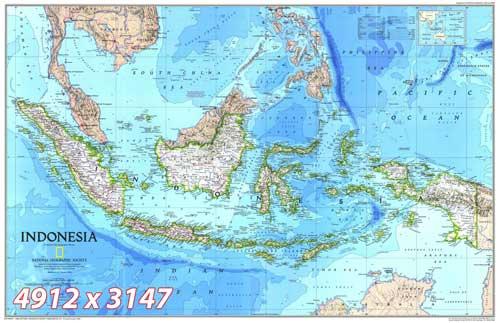 Peta Geographic - Peta Indonesia