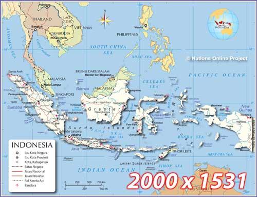 Peta Indonesia Lengkap - Peta Politik