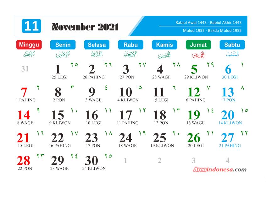Kalender Bulan 11 2021 - Kalender November 2021