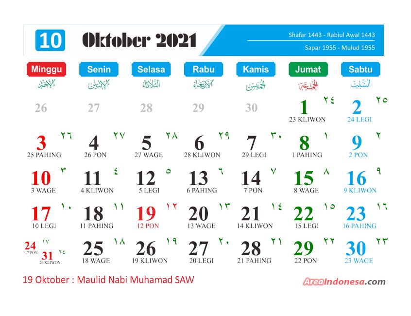 Kalender Bulan 10 2021 - Kalender Oktober 2021