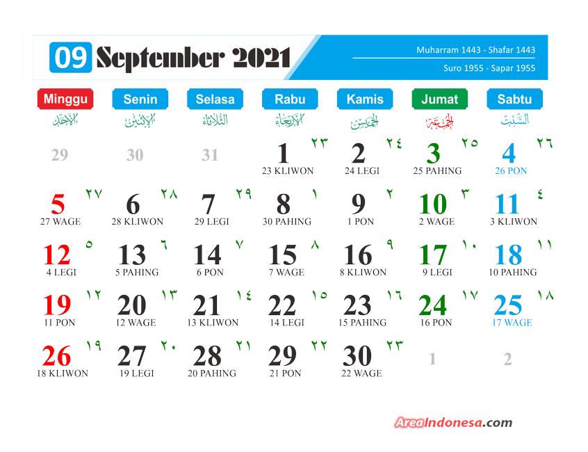 Kalender Bulan 9 2021 - Kalender September 2021