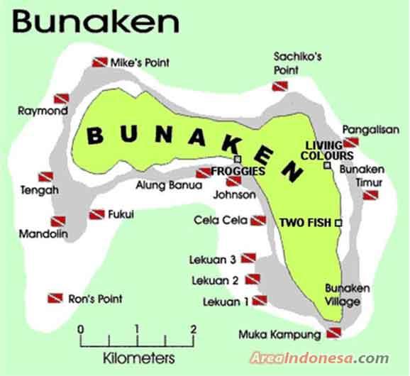 Spot Bawah Laut Bunaken - Taman Nasional Bunaken